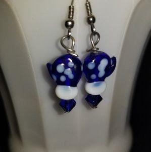 Handmade mitten earrings